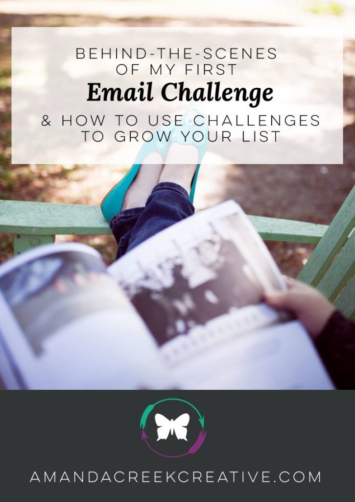 Behind-the-Scenes of my first email challenge & how to use challenges to grow your list