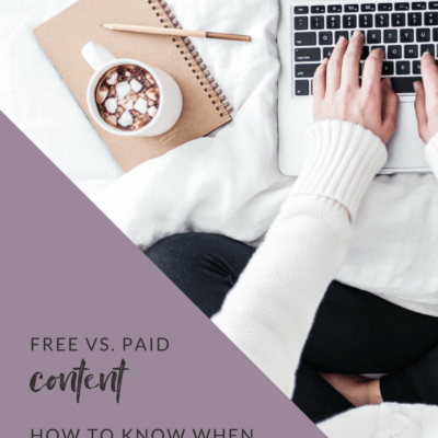Free vs. Paid Content: How to know when to charge