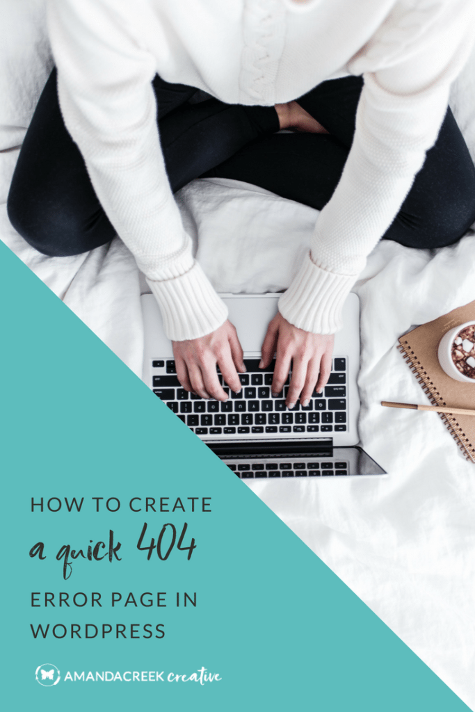 How to create a quick 404 error page in WordPress