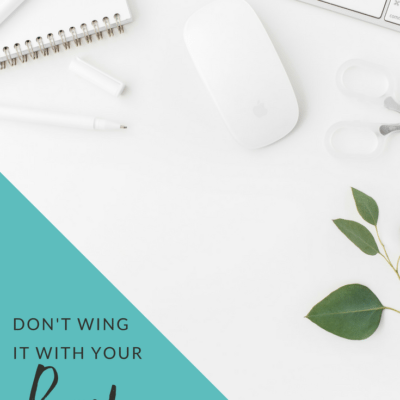 Don't Wing It With Your Brand. Do This Instead.
