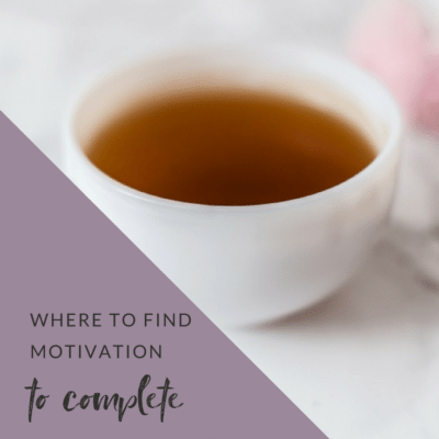 Where to find motivation to complete your difficult to finish projects