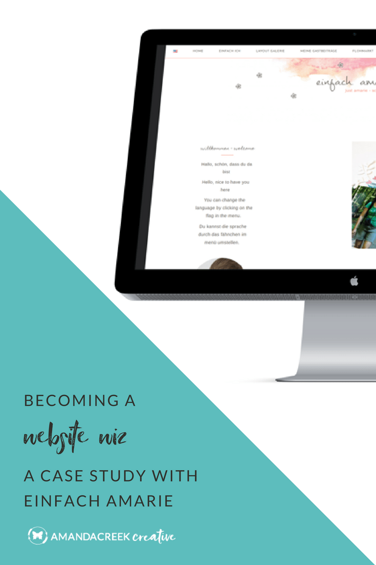Becoming a Website Wiz: A Case Study with Einfach Amarie